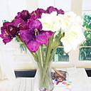 baratos Plantas Artificiais-Flores artificiais 3 Ramo Estiloso / Rústico Orquideas Cesto Flor