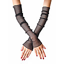 cheap Anime Cosplay Wigs-Women's Cute / Party Fingerless Gloves - Solid Colored Lace