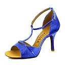 abordables Zapatos de Baile Latino-Mujer Zapatos de Baile Latino / Zapatos de Salsa Brillantina / Semicuero Sandalia / Tacones Alto Hebilla / Corbata de Lazo Tacón Personalizado Personalizables Zapatos de baile Rojo / Azul / Dorado
