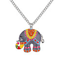 cheap Rings-Pendant Necklace - Elephant, Animal European, Fashion Gold, Silver 62 cm Necklace Jewelry For Daily