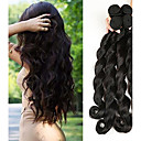 cheap One Pack Hair-4 Bundles Brazilian Hair Loose Wave Virgin Human Hair Natural Color Hair Weaves / Hair Bulk 8-28 inch Natural Black Human Hair Weaves Comfy / Thick Hair End / Double Weft Human Hair Extensions Women's