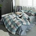 preiswerte Geometrische Duvet Covers-Bettbezug-Sets Geometrisch Polyester Reaktivdruck 4 Stück