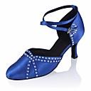 hesapli Modern Dans Ayakkabıları-Kadın's Modern Dans Ayakkabıları İpek Topuklular Stiletto Topuk Dans Ayakkabıları Siyah / Mavi / Performans / Egzersiz