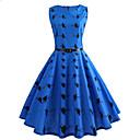 cheap Wedding Decorations-Women's Holiday / Weekend Vintage Slim Sheath Dress - Animal High Waist Spring Blue L XL XXL / Sexy