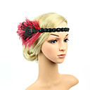 cheap Decorative Objects-The Great Gatsby Vintage 1920s Costume Women's Flapper Headband Headwear Blue / White / Golden Vintage Cosplay Crystal / Rhinestone Feather Sleeveless