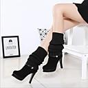 preiswerte Damen Stiefel-Damen Schuhe Kaschmir Winter Komfort Stiefel Blockabsatz Schwarz / Braun