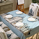 cheap Table Cloths-Contemporary PVC(PolyVinyl Chloride) Square Table Cloth Patterned Table Decorations 1 pcs