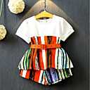 tanie Zestawy ubrań dla dziewczynek-Dzieci / Brzdąc Dla dziewczynek Aktywny Patchwork Krótki rękaw Bawełna Komplet odzieży