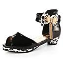 זול נעלי ילדות-בנות נעליים PU אביב קיץ עקבות זעירים עבור בני נוער עקבים פפיון ל ילדים סגול / סגול בהיר / שחור לבן