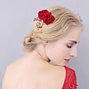 رخيصةأون قطع رأس-الفانيلي فرش تمشيط للشعر مع كريستال / حجم الراين / زهور 1 قطعة زفاف / حفل / مساء خوذة