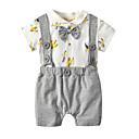 ieftine Set Îmbrăcăminte Băieți Bebeluși-Bebelus Unisex Mată / Imprimeu / Bloc Culoare Mânecă scurtă Salopetă