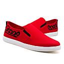 זול נעלי בית וכפכפים לגברים-בגדי ריקוד גברים בד סתיו נוחות נעלי ספורט הליכה שחור / אדום