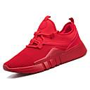 זול נעלי ספורט לגברים-בגדי ריקוד גברים אור סוליות רשת סתיו נעלי ספורט הליכה שחור / אדום / שחור לבן