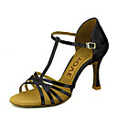 رخيصةأون أحذية لاتيني-نسائي أحذية رقص / أحذية سالسا بريّق / جلد صندل / كعب مشبك / عقدة شريطة كعب مخصص مخصص أحذية الرقص فضي / أحمر / أزرق / أداء / متخصص