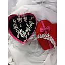 tanie Zestawy biżuterii-Cyrkonia Biżuteria Ustaw - Kwiat Moda, Elegancja Zawierać Kolczyki Hoop Pudełka na biżuterię Naszyjniki choker Srebrny Na Ślub Impreza / Zestawy biżuterii ślubnej