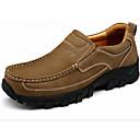 זול נעלי בד ומוקסינים לגברים-בגדי ריקוד גברים נעלי נוחות עור חורף נעליים ללא שרוכים שחור / חום בהיר / חאקי / בָּחוּץ