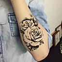 billige Midlertidige tatoveringer-5 pcs Tatoveringsklistermærker Midlertidige Tatoveringer Blomster Serier Kropskunst arm