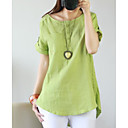 cheap Earrings-Women's Basic Shirt - Solid Colored