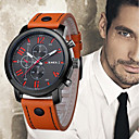 cheap Leather Band Watches-Men's Wrist Watch Chinese Cool Leather Band Casual / Fashion Black / Blue / Orange