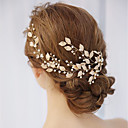 cheap Temporary Tattoos-Alloy Hair Combs with Pearl / Crystals / Rhinestones 1 Piece Wedding / Special Occasion Headpiece