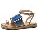 ieftine Saboți de Damă-Pentru femei Pantofi PU Vară Confortabili Sandale Toc Drept Negru / Fucsia / Albastru