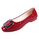 tanie Damskie buty na płaskim obcasie-Damskie PU Lato Wygoda Buty płaskie Płaski obcas Okrągły Toe Szary / Czerwony / Różowy