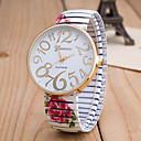 ieftine Ceasuri La Modă-Pentru femei Ceas de Mână Quartz Negru / Alb / Verde Ceas Casual Mare Dial Analog femei Floare Modă - Negru Verde Roz