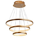 cheap Ceiling Lights-LightMyself™ Circular Chandelier Ambient Light Brass Aluminum Silica gel Adjustable 110-120V / 220-240V Warm White / Dimmable With Remote Control Bulb Included / LED Integrated