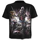 cheap Motorcycle & ATV Parts-Men's Skull / Exaggerated Plus Size Cotton T-shirt - Color Block / Skull / Portrait Print / Short Sleeve