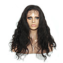tanie Peruki z włosów ludzkich-Włosy naturalne remy Siateczka z przodu Peruka Włosy brazylijskie Falowana Peruka 150% Gęstość włosów 100% Dziewica Damskie Długie Peruki koronkowe z naturalnych włosów beikashang