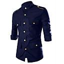 billige Sko til latindans-Bomull Skjorte Herre - Ensfarget / Vennligst velg én størrelse over din normale størrelse.