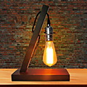 cheap Table Lamps-Modern / Contemporary New Design / Creative Desk Lamp For Living Room / Study Room / Office Wood / Bamboo 220V Red