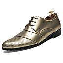 tanie Męskie obuwie sportowe-Męskie Komfortowe buty Sztuczna skóra / PU Lato Oksfordki Złoty / Biały / Czarny