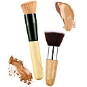 cheap Foundation Brushes-2 Makeup Brushes Professional Blush Brush / Concealer Brush / Powder Brush Nylon / Synthetic Hair Eco-friendly / Professional / Soft Wooden / Metal