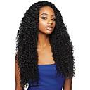 billige Blondeparykker med menneskehår-Ubehandlet hår 360 Frontal Parykk Brasiliansk hår Krøllet Parykk Med hestehale 180% Dame Naturlig Dame Lang Blondeparykker med menneskehår