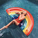 cheap Wetsuits, Diving Suits & Rash Guard Shirts-Rainbow Inflatable Pool Floats PVC Durable Swimming / Water Sports for Adults 180*90*20 cm