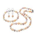 זול סט תכשיטים-בגדי ריקוד נשים פרל מים מתוקים סט תכשיטים - S925 כסף סטרלינג, פרל מים מתוקים טיפה פשוט, קלסי, אלגנטית לִכלוֹל סטי תכשיטי כלה קשת עבור Party מתנה