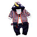 ieftine Pantaloni Băieți-Copil Băieți De Bază Dungi Manșon Lung Poliester Set Îmbrăcăminte Alb 100