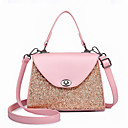 povoljno Tote torbe-Žene Torbe PU Tote torbica Šljokice Crn / Blushing Pink / Sive boje