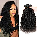 cheap Synthetic Capless Wigs-4 Bundles Peruvian Hair / Kinky Curly Curly Human Hair Natural Color Hair Weaves / Costume Accessories / Extension 8-28 inch Human Hair Weaves Machine Made Soft / Classic / Hot Sale Natural Color