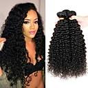 cheap Synthetic Capless Wigs-4 Bundles Peruvian Hair Curly Human Hair Natural Color Hair Weaves / Hair Bulk / Costume Accessories / Extension 8-28 inch Natural Color Human Hair Weaves Machine Made Soft / Classic / Hot Sale Human