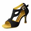 cheap Latin Shoes-Women's Dance Shoes Latin Leatherette Heel Black/Yellow/Red Customizable