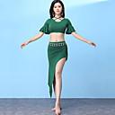 رخيصةأون ملابس رقص شرقي-رقص شرقي أزياء للمرأة التدريب مودال كشاكش / منفصل كم قصير ارتفاع منخفض تنانير / بلايز
