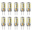 abordables Luces LED en Espiga-BRELONG® 10pcs 3 W 250 lm G4 Bombillas LED de Mazorca / Luces LED de Doble Pin T 24 Cuentas LED SMD 2835 Decorativa Blanco Cálido / Blanco 12 V