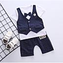 ieftine Set Îmbrăcăminte Băieți Bebeluși-Bebelus Băieți Houndstooth Manșon scurt Set Îmbrăcăminte