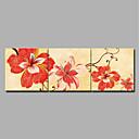 abordables Impresiones-Estampado Laminados en lienzo / Impresiones en Lienzo Estirado - Moderno / Floral / Botánico Modern
