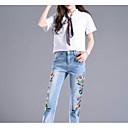 baratos Pijamas Kigurumi-Mulheres Básico / Moda de Rua Jeans Calças - Sólido / Estampa Colorida