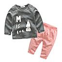 ieftine Set Îmbrăcăminte Băieți Bebeluși-Bebelus Băieți De Bază Imprimeu Imprimeu Manșon Lung Bumbac Set Îmbrăcăminte