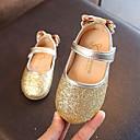 povoljno Cipele za djevojčice-Djevojčice Cipele PU Proljeće ljeto Udobne cipele / Obuća za male djeveruše Ravne cipele Hodanje Mašnica / Šljokice za Djeca Zlato / Pink / Pink