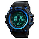 abordables Relojes Digitales-SKMEI Hombre Reloj Deportivo Reloj Militar Japonés Digital 50 m Resistente al Agua Despertador Cronógrafo PU Banda Digital Casual Moda Negro / Verde - Rojo Verde Azul Un año Vida de la Batería